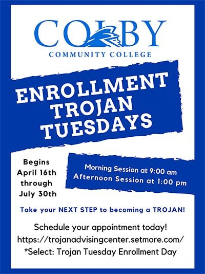 Flyer for fall 2019 enrollment days