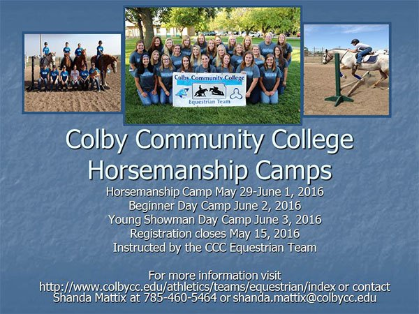 Equestrian Camp Flyer 2016