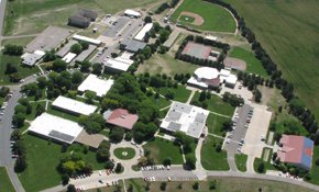 Aerial view of the Colby Community College campus