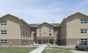 Embree Hall, CCC's three-story student housing building