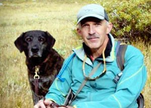 Philip Tedeschi and his black lab Samara