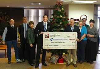 Check presentation with college and F & M employees