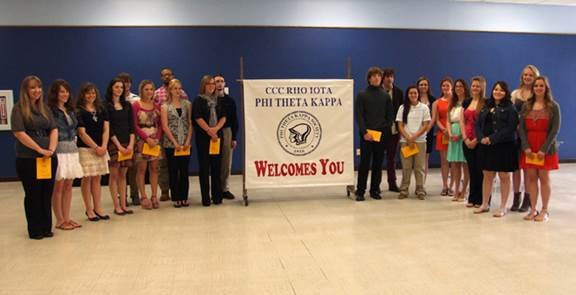 PTK induction ceremony