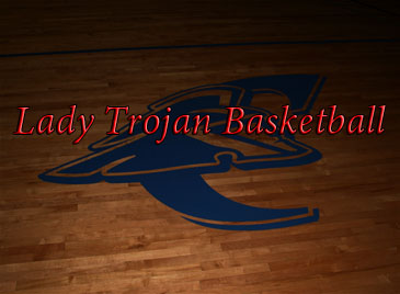 Logo on basketball court
