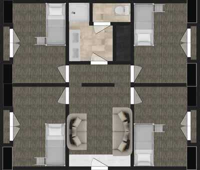 Floor Plan for Living Center East