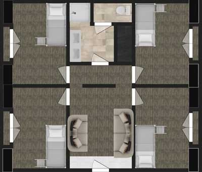 Floor Plan for Living Center North
